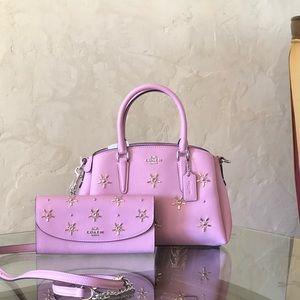 NWT Coach Disney Mini Studded sage handbag&wallet